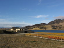 Image of New Zealand Vineyards and Home with Panoramic Lake and Mountain Views